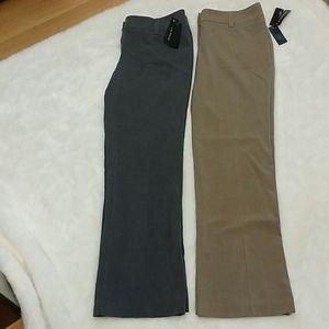 NWT grey and tan dress pants